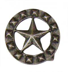 Modestone Men's Texas Star Circle Buckle O/S Silver