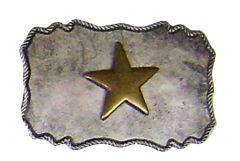 Modestone Men's Gold Texas Star Buckle O/S Silver