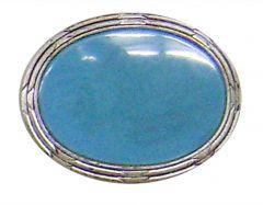 Modestone Men's Large Aqua Like Stone Buckle O/S Blue