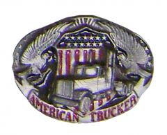 Modestone Men's American Trucker Eagles Flag Buckle O/S Silver