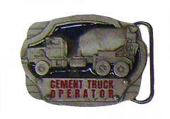 Modestone Men's Cement Truck Operator Buckle O/S Silver