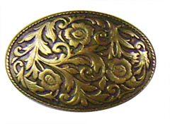 Modestone Men's Western Filigree Buckle O/S Gold