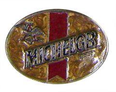 Modestone Men's Michelob Beer Buckle O/S Beige