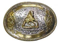 Modestone Men's Horse Trophy Buckle Nickel Silver O/S