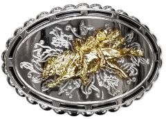 Modestone Metal Alloy Trophy Belt Buckle Bull Rider Rodeo 3 3/4'' X 2 3/4''