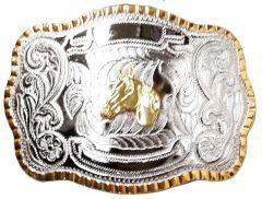 Modestone Metal Alloy Trophy Belt Buckle Horse Head 5 1/2'' X 3 3/4''