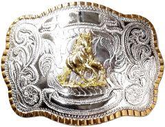 Modestone Metal Alloy Trophy Belt Buckle Sliding Stop Horse 5 1/2'' X 3 3/4''