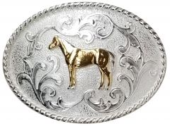 Modestone Metal Alloy Trophy Belt Buckle Standing Horse 4 1/4'' X 3 1/4''