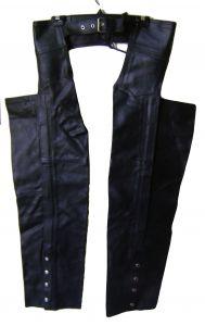 Modestone Men's Leather Chaps Bm Black
