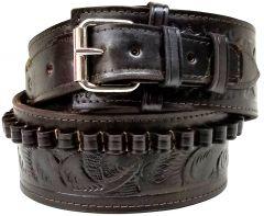 Modestone 44/45 cal Western High Ride/Rise Leather Gun Belt *NO HOLSTERS* Brown