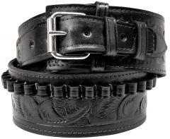 Modestone 44/45 cal Western High Ride/Rise Leather Gun Belt *NO HOLSTERS* Black