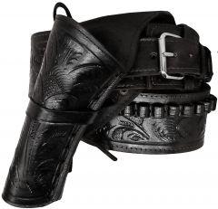 Modestone 44/45 Left Cross Draw High Ride/Rise Holster Gun Belt Rig Leather