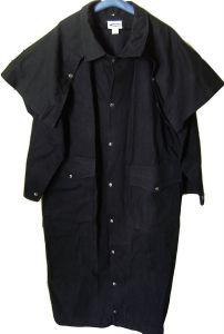 Modestone Duster Ranger Saddle Coat Canvas Cape XL Black