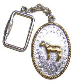 Modestone Nickel Silver Standing Horse Key Holder