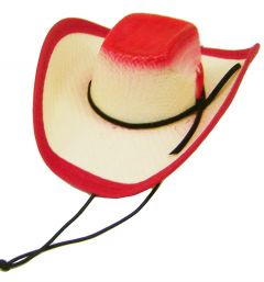 Modestone Straw Dog Cat Pet Hat Elastic String Feather Red