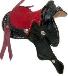 Modestone Small Decorative Leather Saddle Black