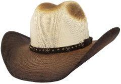 Modestone Unisex Straw Cowboy Hat Breezer Beige