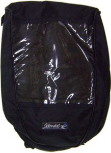 "Modestone Sidewind Cordura Gas Tank Bag 15"" x 11"" x 4"" Clear Map Pocket Black"