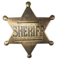Modestone Men's Sheriff Star Pin O/S Gold