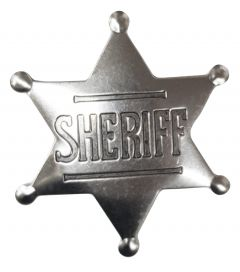 Modestone Men's Sheriff Star Pin O/S Silver