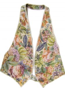 Modestone Women's Canvas Floral Vest Metal Ornaments One Size