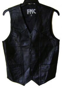 Modestone Men's Fmc Leather Vest size 36 Black